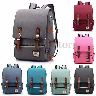 US Women Men Backpack School Bookbag Laptop Travel Rucksack Shoulder Bag Satchel