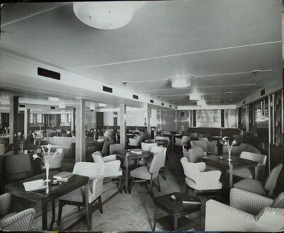 Britannic (White Star Line) Photograph Of The Tourist Lounge 1958