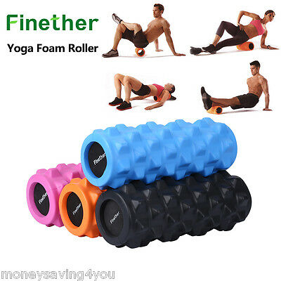 Finether Yoga Foam Roller EVA  Exercise Trigger Point GYM Pilates Massage 4color