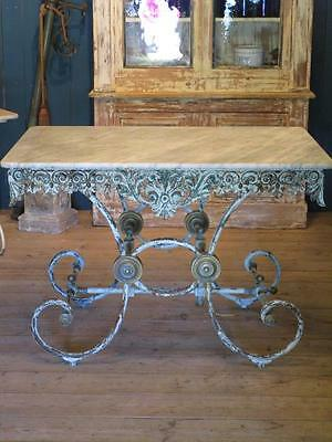 19th century French marble butcher's table