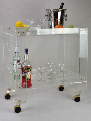 Vintage French lucite bar cart - 1970's