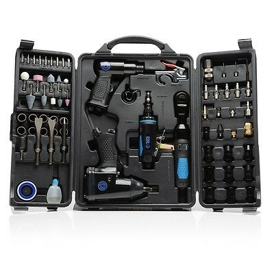 Pneumatic Air Tool Kit 71pcs Hammer Impact Wrench Die Ratchet & Grinder