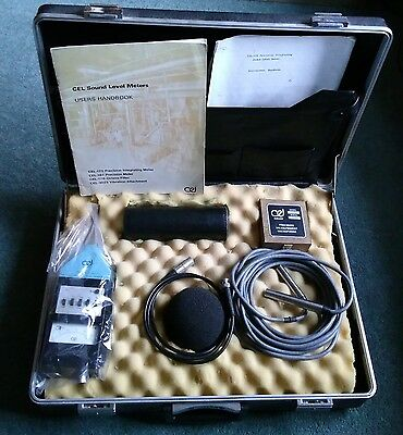 CEL 175 Sound Level Meter kit in Case with CEL177 Piston Calibrator etc