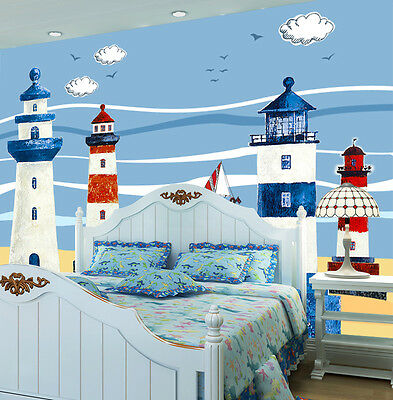 3D White Could Sailboat Wall Paper Murals Wall Print Decal Wall Deco AJ WALLPAPE