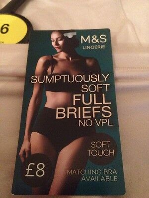 Marks and Spencer Fawn Soft Touch  No VPL Full Briefs Size 16 BNWT