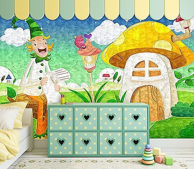 3D Scarecrow House Wall Paper Murals Wall Print Decal Wall Deco AJ WALLPAPE