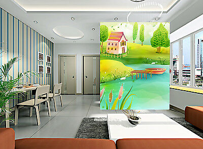 3D Forest House Wall Paper Murals Wall Print Decal Wall Deco AJ WALLPAPER