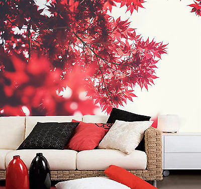 3D Red Maple Paint Wall Paper Murals Wall Print Decal Wall Deco AJ WALLPAPE
