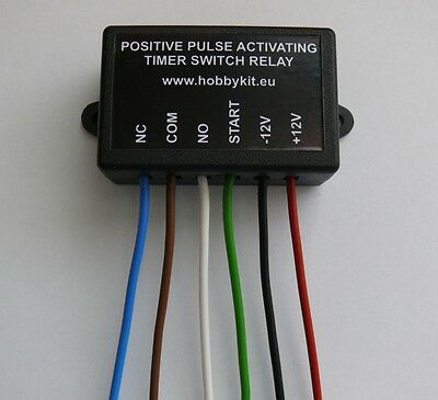 Timer switch relay 1 to 50 sec Delay OFF Positive pulse activate 12V 10A Car