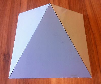 Orgone Aluminium Equilateral Pyramid Mold / Mould - 280mm x 280mm base