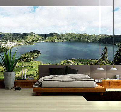 3D Forest Lake Wall Paper Murals Wall Print Decal Wall Deco AJ WALLPAPE
