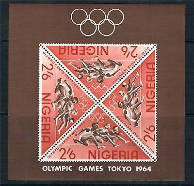 Nigeria 1964 Olympic Games MS SG 156a MNH