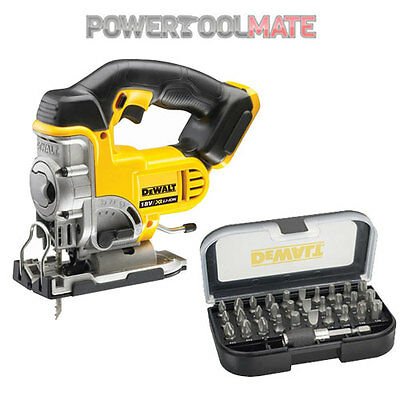 DeWalt DCS331N 18V XR Jigsaw (Body Only) & DT7944 31Pc Bit Set