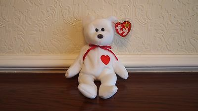 TY Beanie Baby Valentino The Bear With Date Error Tags 94 / 93 & Brown Nose
