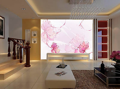 3D Pink Flower Painting Wall Paper Murals Wall Print Decal Wall Deco AJ WALLPAPE