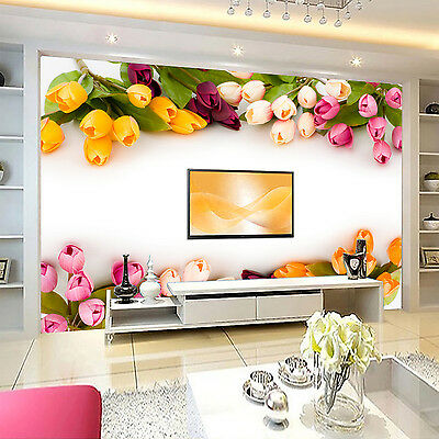 3D Colored Flowers Wall Paper Murals Wall Print Decal Wall Deco AJ WALLPAPE