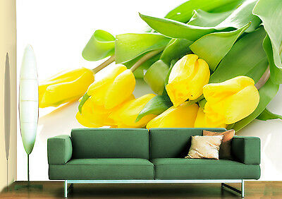 3D Yellow Buds Wall Paper Murals Wall Print Decal Wall Deco AJ WALLPAPE