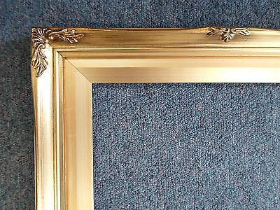 Picture Frame- Ornate Antique Bright & Dark Gold Vintage Style Wood-B8G-   11x14