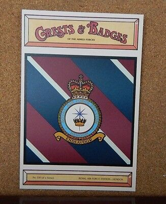 Royal Air force Station Hendon Crests & Badges of the armed services