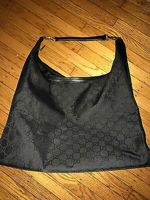 Authentic Gucci Nylon XL Travel Hobo Tote Bag Duffle