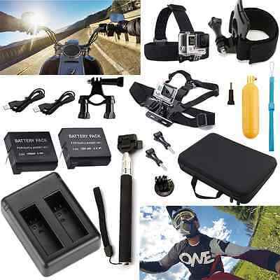 Floating Hand Grip Battery Charger Chest Wrist Mount Set Kit For GoPro HD Hero 4