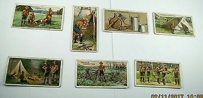 Vintage Ogdens Boy Scouts Blue Back 1911 7 of 50 cards