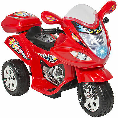 Kids Ride On Motorcycle 6V Toy Battery Powered Electric 3 Wheel Power Bicyle Red