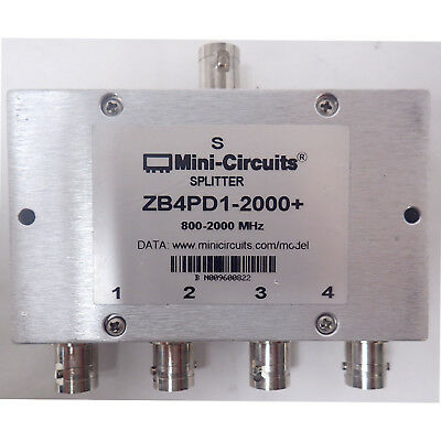 MINI-CIRCUITS ZB4PD1-2000-S+ 800-2000 MHz DC PASS POWER SPLITTER / COMBINER ROHS