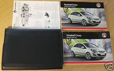 Vauxhall Corsa D Owners Manual Handbook Wallet 2011-2014 Pack