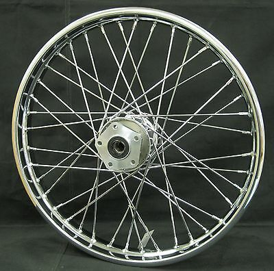 """Chrome Ultima 40 Spoke Front 21x1.85"""" Wheel for Softail and FXDWG 1984-1999"""