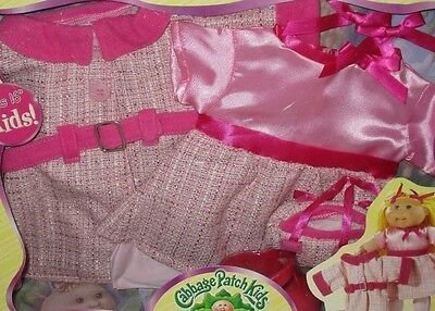 """NEW 2006 Cabbage Patch Kids Pretty in Pink 16"""" CPK Doll Outfit Dress Coat Easter"""