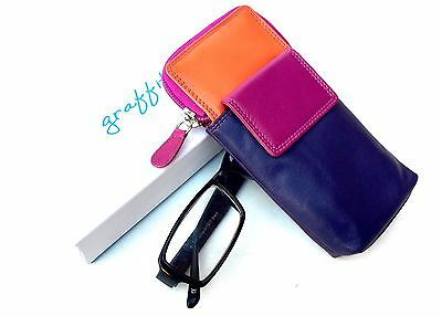 Golunski Graffiti Range Leather Multi Coloured Phone Glasses Case .