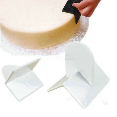 Cake edge Cream Smoother Paddle DIY Fondant Sugar Craft Polisher Finisher Tools