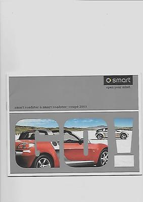 Smart Roadster  And Smart Roadster Coupe Sales Brochure  2003
