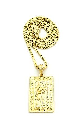 "Egyptian Ancient Hieroglyphic Alphabet Thoth Pendant 24"" Various Chain Necklace"