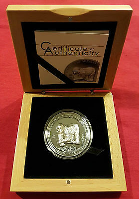 2016 500 Togrog Mongolia Silver Year Of The Monkey High Relief