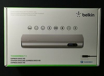 Belkin Thunderbolt 2 Express Dock HD 8-Ports with 1m Cable - F4U085VF