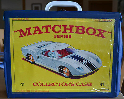 Matchbox Lesney 48 Car Collectors Case - No 41 Ford GT Front of Case