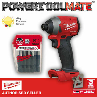 Milwaukee M18FID-0 Fuel Impact Driver + 4932352980 Pozi Bit Set