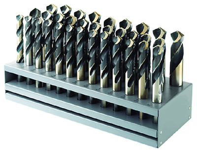 """MORSE CUTTING TOOL 18112 33Pc. Drill Set 1/2"""" to 1"""" x 64ths Made in USA"""