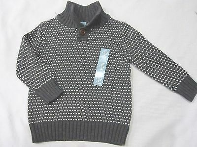 NWT Boys BABY GAP Charcoal Gray Holiday Sweater Sz 12-18, 3