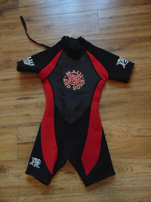 Wetsuit Child Size 10 Maui Sons  Black Red 2-3 mm Neoprene