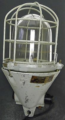 Vintage EOW East Germany Explosion-Proof Industrial Bunker Lamp / Light