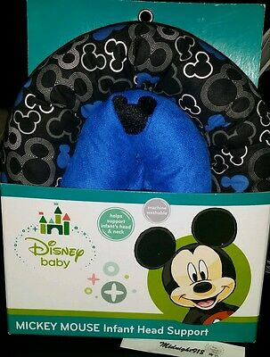 🍼👶disney Mickey Mouse Infant Head Support👶🍼machine Washable👶🍼