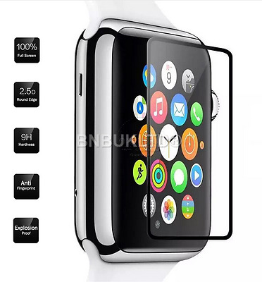 2 X Border Edge Tempered Glass Screen Protector For Apple Watch Series 1/2 42MM