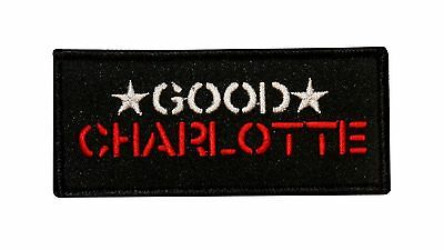 Good Charlotte Star Name Logo Embroidered  Iron On Applique Patch p523