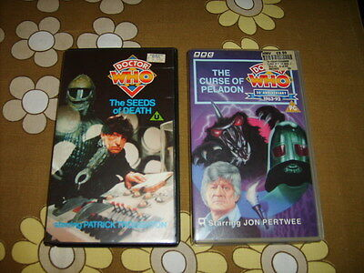 2 Classic Doctor Who Videotapes with Ice Warriors from 1969 and 1972