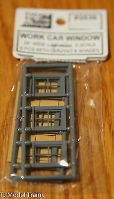 Tichy Train Group #3536 (S Scale) Work Car Windows (6 in Pkg)
