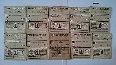 National Coal Board Ncb Wagon Labels X 10 - No 6 Area - Gedling Colliery