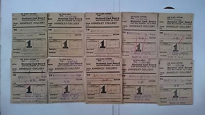 National Coal Board Ncb Wagon Labels X 10 - Annesley Colliery - Eastcroft Gw